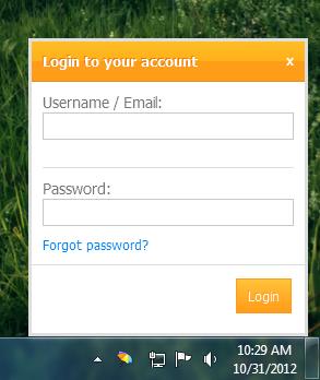 Desktop notifier application for Elgg